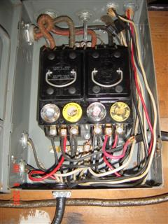Mains and range panel